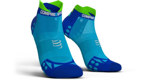 Compressport Pro Racing V3.0 Ultralight Run Low Socks Fluo Blue